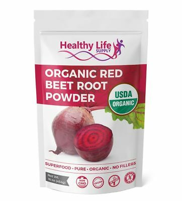 Organic Whole Beet Root Powder Certified USDA Organic Non GMO Pure Beta Vulgaris