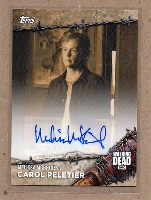 Melissa McBride Carol Peletier autograph card Walking Dead only 10 made Topps