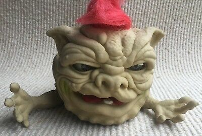 "Original Large Boglins Hairy Boglins Plunk 1987 Action Gt Puppet 11"" Long"