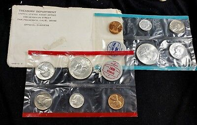 1963 United States Silver P&D Mint Sets Uncirculated US Coins *