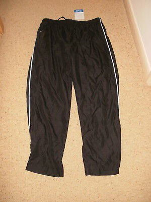 NEW Mens Black Jogging Tracksuit Bottoms by u.s.athletic Size XL