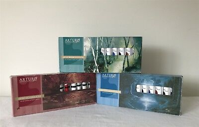 3 Boxes 35 Tubes ARTURO Paints OIL WATERCOLOUR & ACRYLIC (1 Watercolour Damaged)