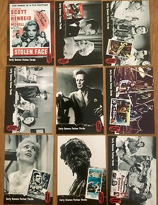 Hammer Horror Cards Strictly Ink Card Series1  1-9 Early Science Fiction Thrills