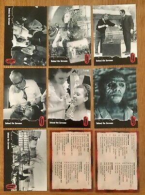 Hammer Horror Cards Strictly Ink Card Series1 64-74 Behind The Screams & list
