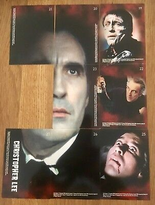 Hammer Horror Cards Strictly Ink Card Series1 19-23 25-26 Christopher Lee Poster