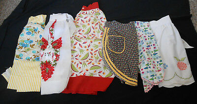 Lot Vintage Handmade Farmhouse Aprons