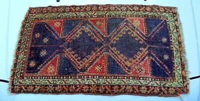 "19th Century Hand Knotted Wool Rug 35""X21"""