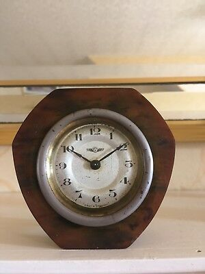 Rare Vintage Art Deco German Desk Clock.  Dial And Movement Signed Keinzle Gwo