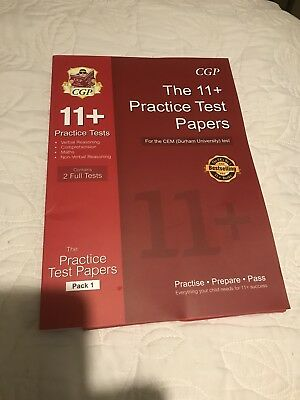 11+ Practice Test  Papers CGP Contains 2 Full Tests Pack 1