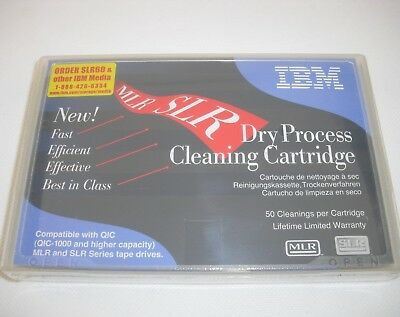 IBM #35L0844 SLR/MLR/QIC Dry Process Cleaning Cartridge Tape NEW, FACTORY SEALED