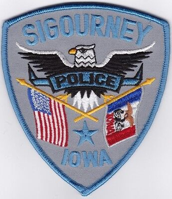 Sigourney Police Iowa patch NEW