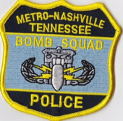 Metro-Nashville Police Bomb Squad Police Tennessee TN Police patch