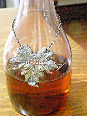 1837 Victorian Taylor & Perry Sterling Leaf Sherry Bottle Tag 11 Grams .99
