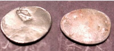 Rare Ancient Greek Coin Counter Strike Only .88 Grams Silver? 12 mm. Free Shippi