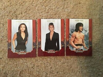 2009 Donruss Americana Celebrity Trading Cards!!! 3 Cards!!! Jackie Chan!!!