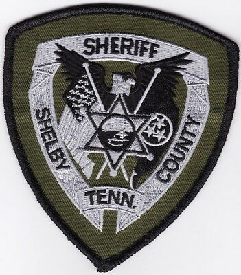 Shelby County Sheriff Tennessee TN green patch NEW