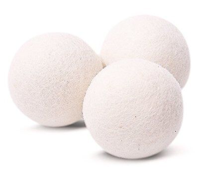 3 Pack Wool Dryer Balls - Premium XL Organic Eco-Friendly Unscented Non-Toxic