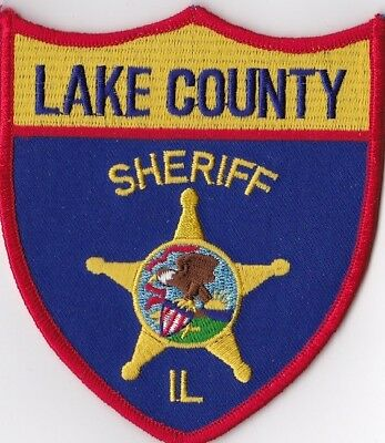 Lake County Sheriff IL Police Patch Illinois IL