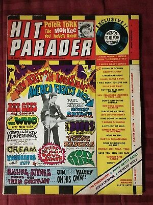 1967 Hit Parader Magazine - Rock And Roll - Complete Issue