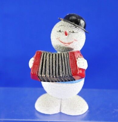 Vintage Venetian Dew US Zone Germany Snowman Christmas Candy Container