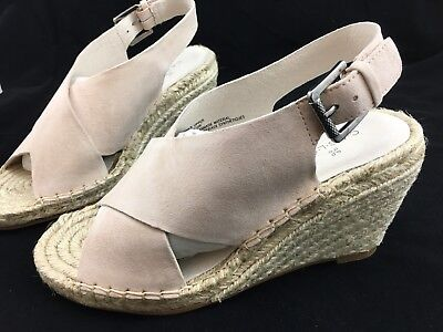 eae87c4807c CASLON SURI BLUSH Suede Leather Espadrille Wedge Sandals Size 5.5