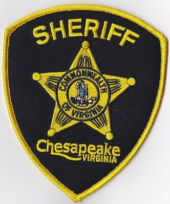 Chesapeake Sheriff black backround  Police VA Virginia Police patch