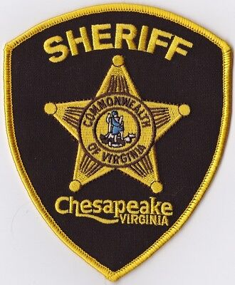 Chesapeake Sheriff brown backround Police VA Virginia Police patch