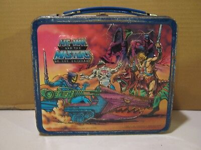 1984 Heman And Masters Of The Universe Metal Lunch Box With No Thermos.