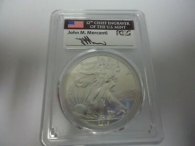 2015-( P)-SILVER EAGLE PCGS MS69 MERCANTI.ONLY 79,640 Struck IN PHILADELPHIA