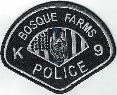 Bosque Farms Police K9 Canine New Mexico NM patch