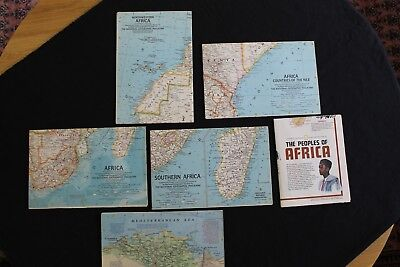 Vintage National Geographic Maps - Africa