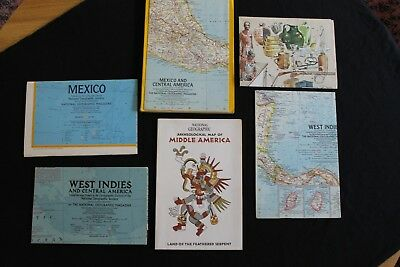 Vintage National Geographic Maps - Central America and Mexico