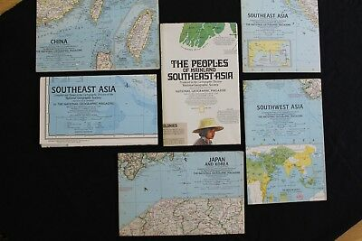 Vintage National Geographic Maps - China and Asia