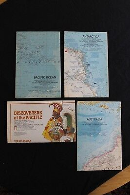 Vintage National Geographic Maps - The Pacific Ocean