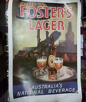 Fosters Lager Australias National Beverage Poster