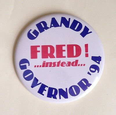 Fred Grandy Governor Iowa 1994 Campaign Button Republican Gopher Love Boat