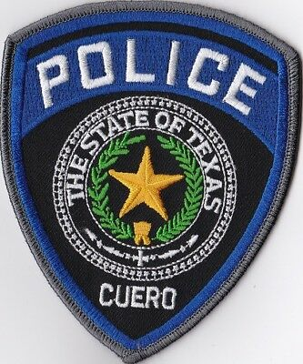 Cuero Texas TX Police Patch