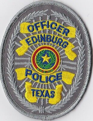 Edinburg Police Officer Texas TX Police Patch
