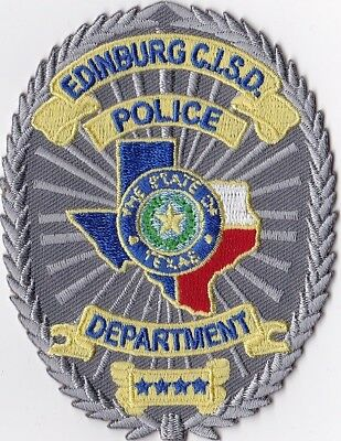 Edinburg C.I.S.D. Police Dept. Texas TX Police Patch