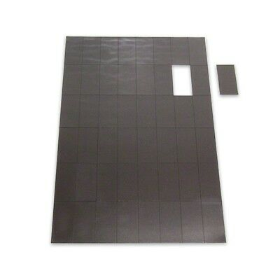 Stick On Magnets Self Adhesive 40mm x 20mm x 0.6mm sheet of magnets 50 - 900