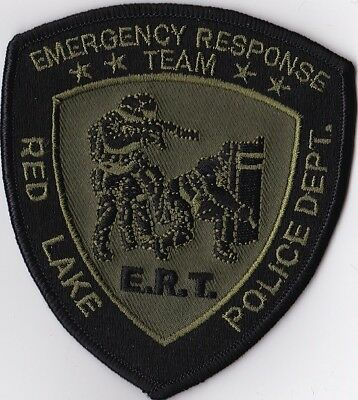 Red Lake Police Dept. E.R.T. green Police Patch Minnesota MN