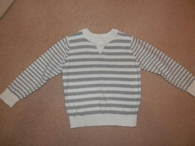 Target boys grey & white striped jumper. Size: 3. New without tags.