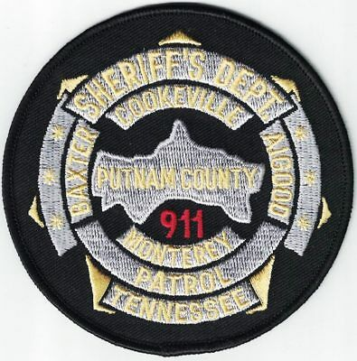 Putnam County Sheriff's Department 911 Tennessee TN patch