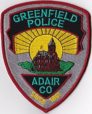 Greenfield Police ADAIR Police Patch Colorado CO