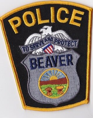 Beaver Police Patch Ohio OH