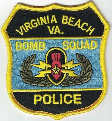 Virginia Beach Police Bomb Squad VA patch