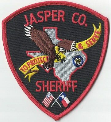 Jasper County Sheriff Texas TX patch