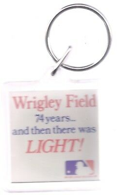 Chicago Cubs Keychain Wrigley Field 74 Years Let There Be Light Plastic
