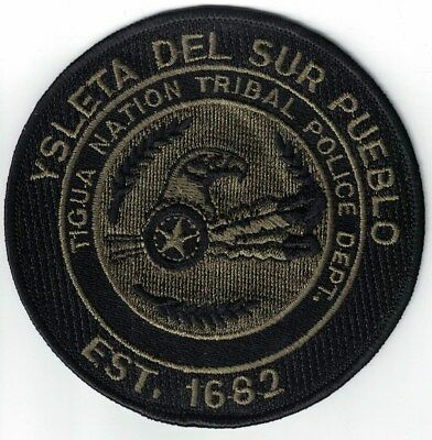 Ysleta Del Sur Pueblo Tigua Nation Tribal Police Department Texas green patch