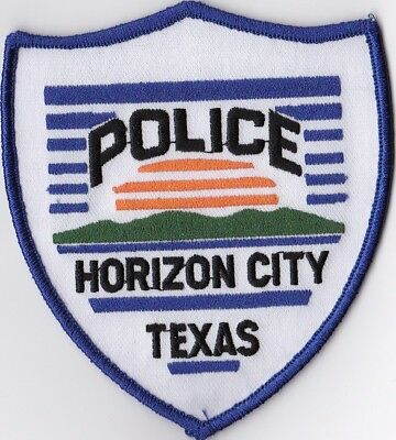 Horizon City  Police Patch Texas TX